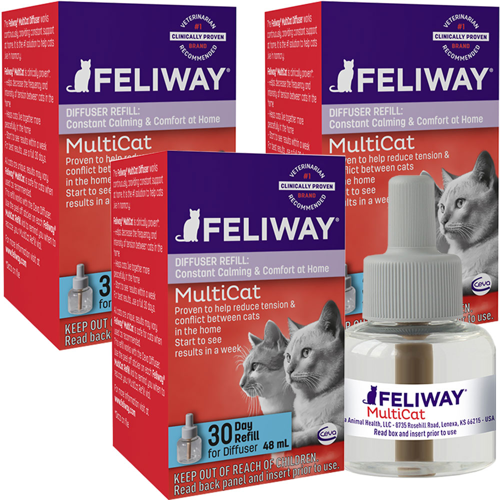 3-PACK FELIWAY MultiCat Refill for Cats (144 ml)