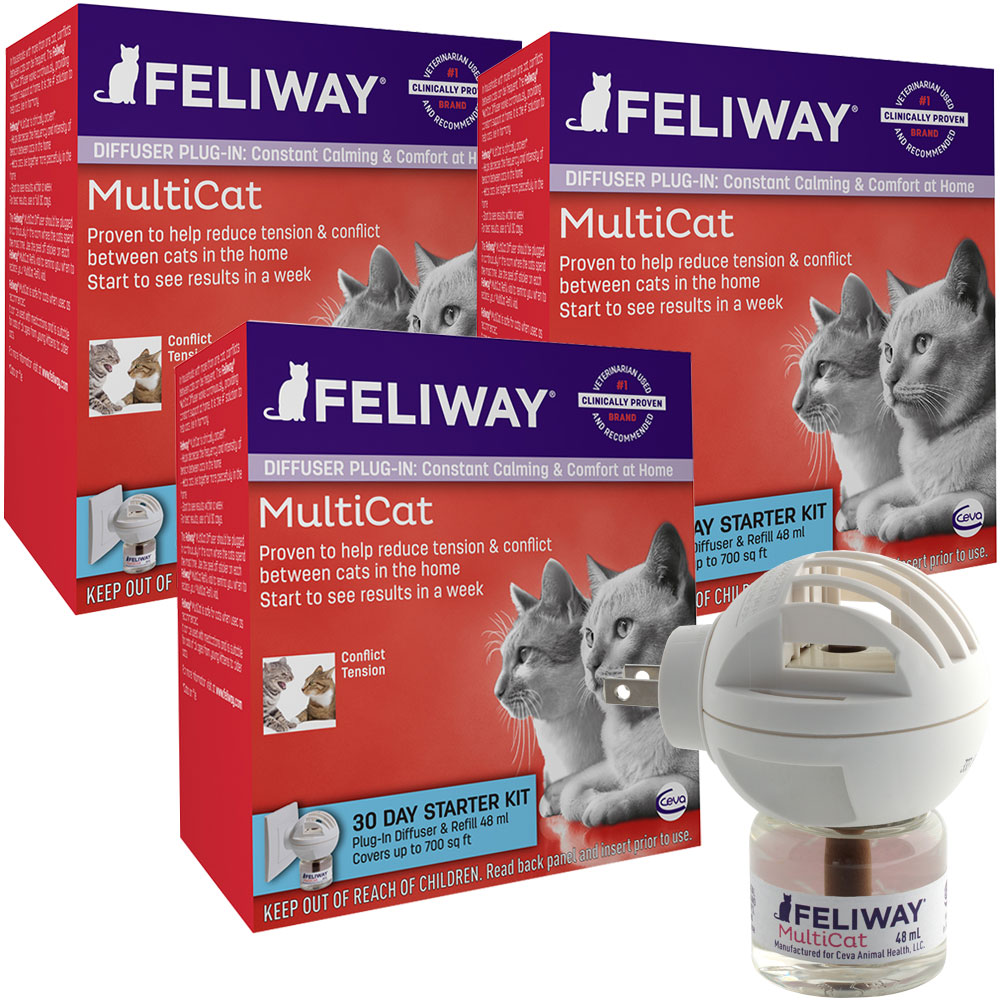 3-PACK FELIWAY MultiCat 90 Day Starter Kit (3 Complete Kits) im test