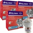 3-PACK FELIWAY MultiCat 90 Day Starter Kit (3 Complete Kits)