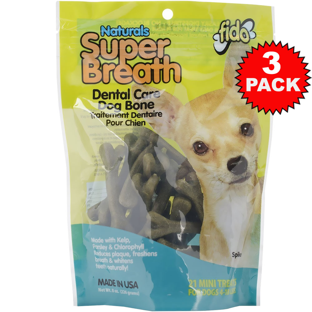 3-PACK Fido Dental Care Super Breath Bones (Mini 63 Pack) im test