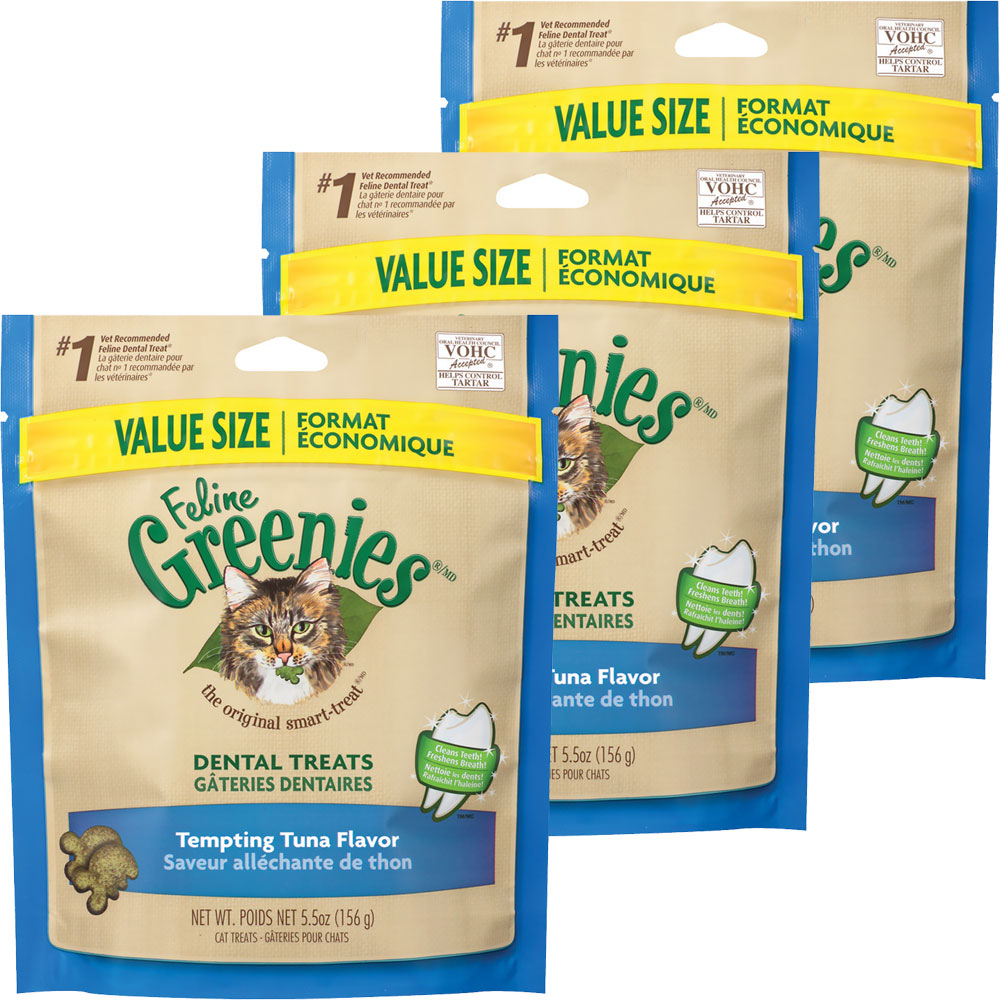 Greenies Feline Dental Treats - Tempting Tuna Flavor 3-Pack (16.5 oz) im test