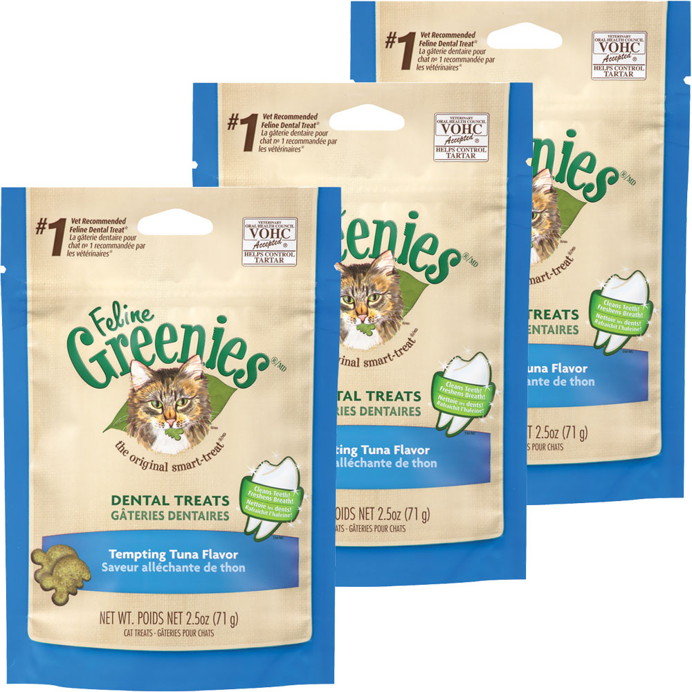 Greenies Feline Dental Treats - Tempting Tuna Flavor 3-Pack (7.5 oz) im test