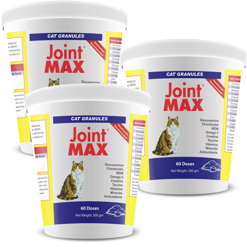 3-PACK Joint MAX Granules for Cats (180 Doses) im test