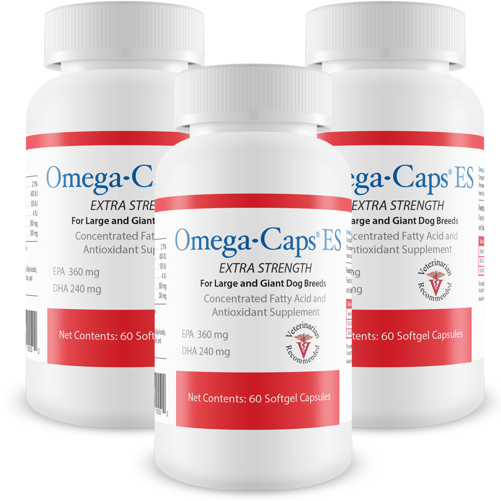 3-Pack Omega-Caps ES For Large & Giant Dogs - 180 Softgel Capsules - from EntirelyPets
