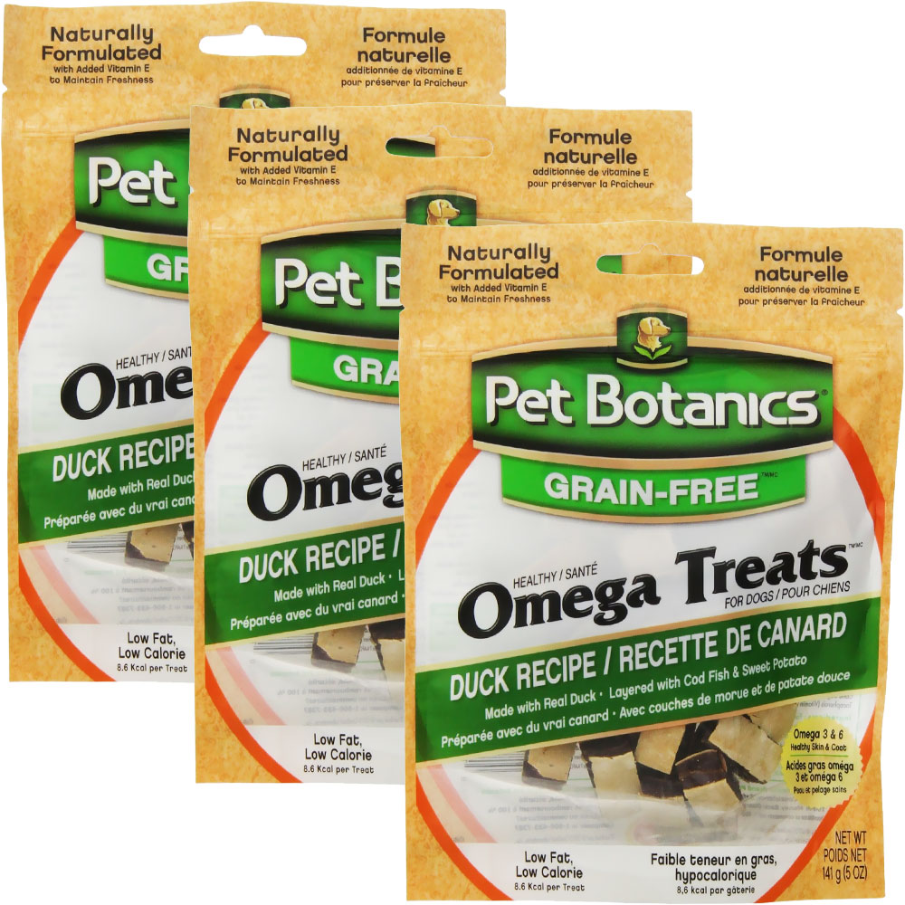 3 PACK Pet Botanics Healthy Omega Treats - Duck (15 oz) im test