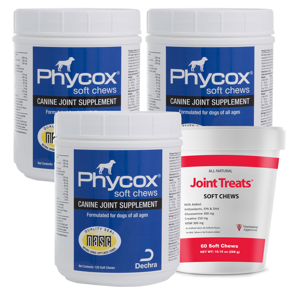 Phycox Soft Chews 3-Pack (360 Soft Chews) + FREE JOINT TREATS!