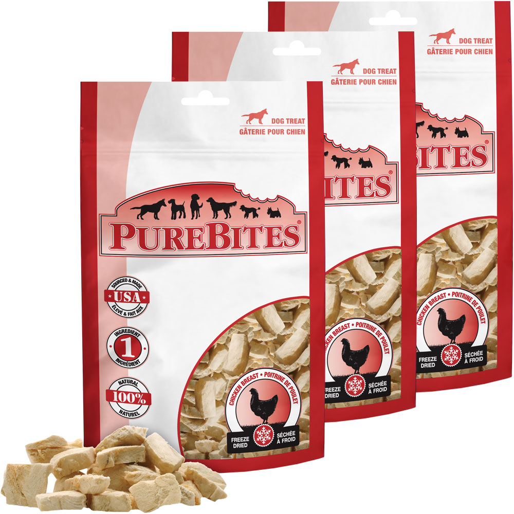 PureBites Chicken Breast Dog Treat 3-PACK (34.8 oz)
