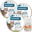 3-PACK Seresto Flea & Tick Collar for Cats + Tapeworm Dewormer for Cats (3 Tablets)