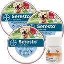 3-PACK Seresto Flea & Tick Collar for Large Dogs + Tapeworm Dewormer for Dogs (5 Tablets)