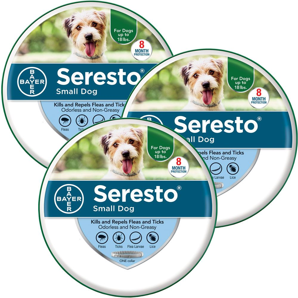 Open container for Seresto small dog flea tick collar
