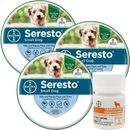 3-PACK Seresto Flea & Tick Collar for Small Dogs + Tapeworm Dewormer for Dogs (5 Tablets)