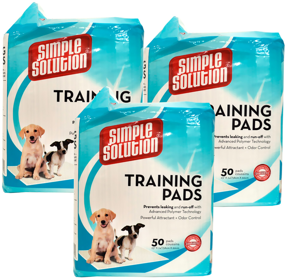 3-Pack Simple Solution Training Pads - 150 Pack - from EntirelyPets