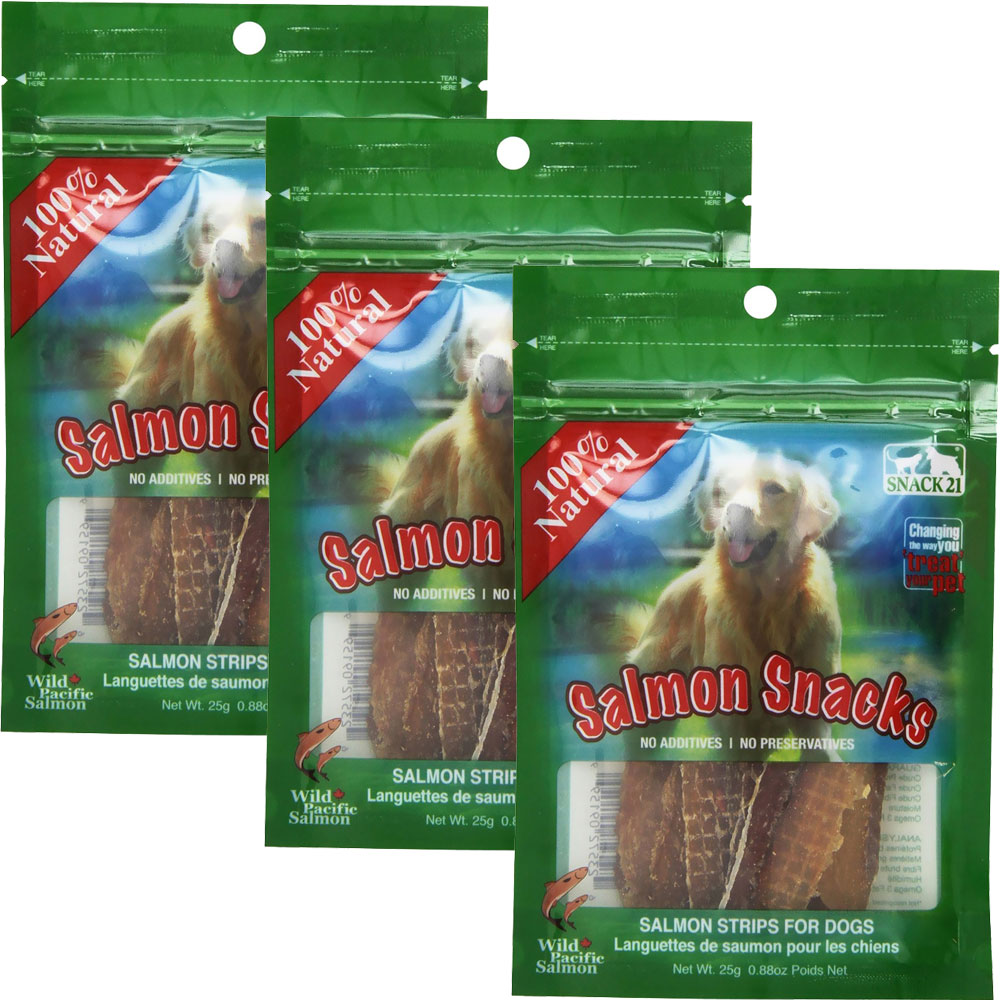 Snack 21 Salmon Snacks for Dogs 3-PACK (75 g) im test