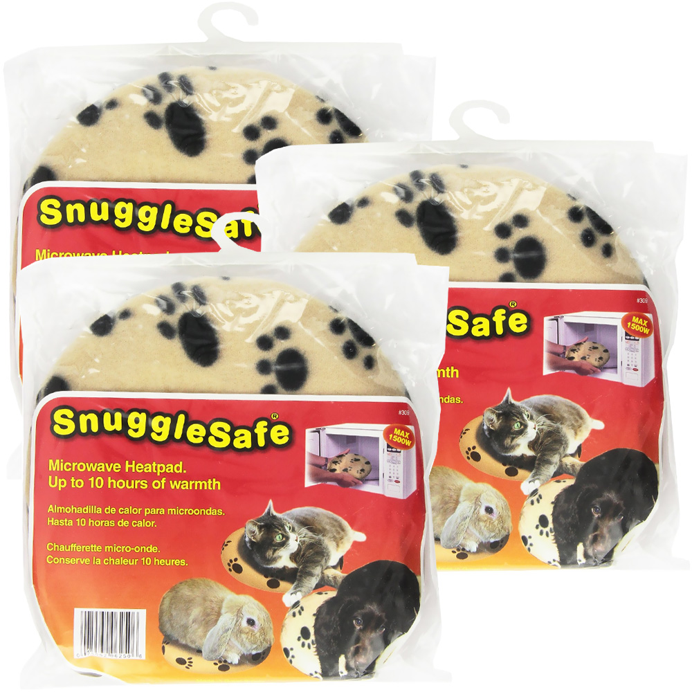 3 Pack Snugglesafe Microwave Heat Pad On Sale Entirelypets