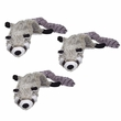 "3-PACK Spot Mini Skinneeez Stuffing Free Plush Raccoon (15"")"