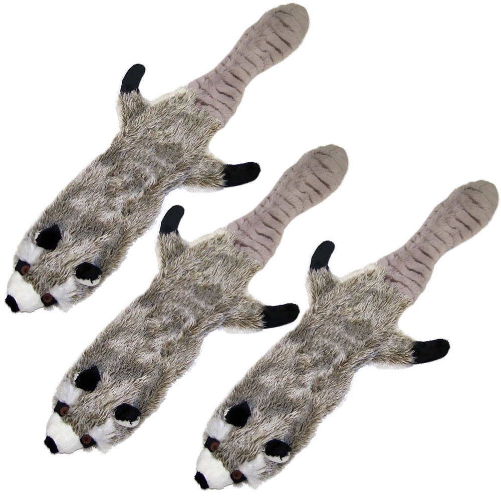 3-PACK-SPOT-SKINNEEEZ-STUFFING-FREE-PLUSH-RACCOON-23