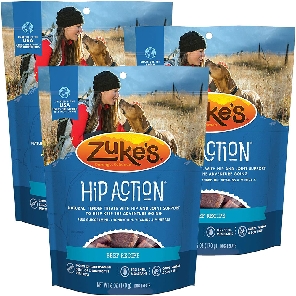 Zuke's Hip Action with added Glucosamine and Chondroitin 3 Packs - BEEF (18 oz) im test
