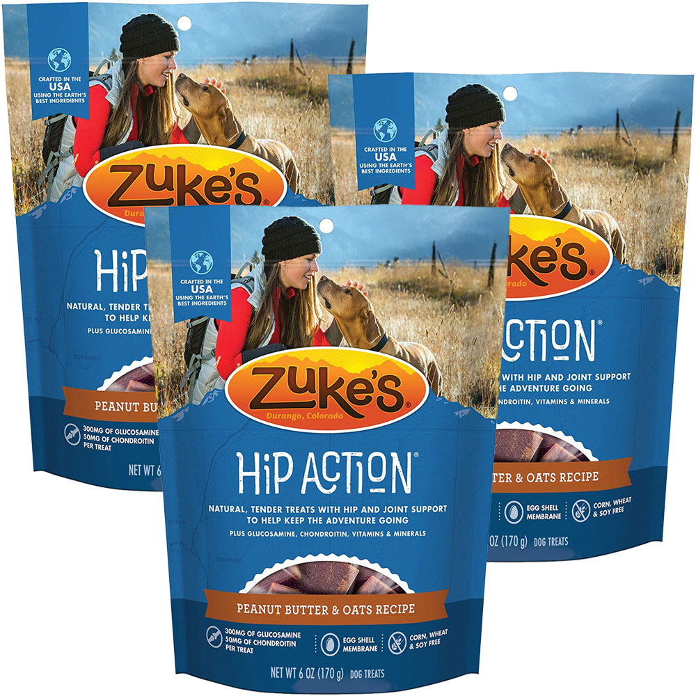 Zuke's Hip Action with added Glucosamine and Chondroitin 3 Packs - PEANUT BUTTER (18 oz) im test