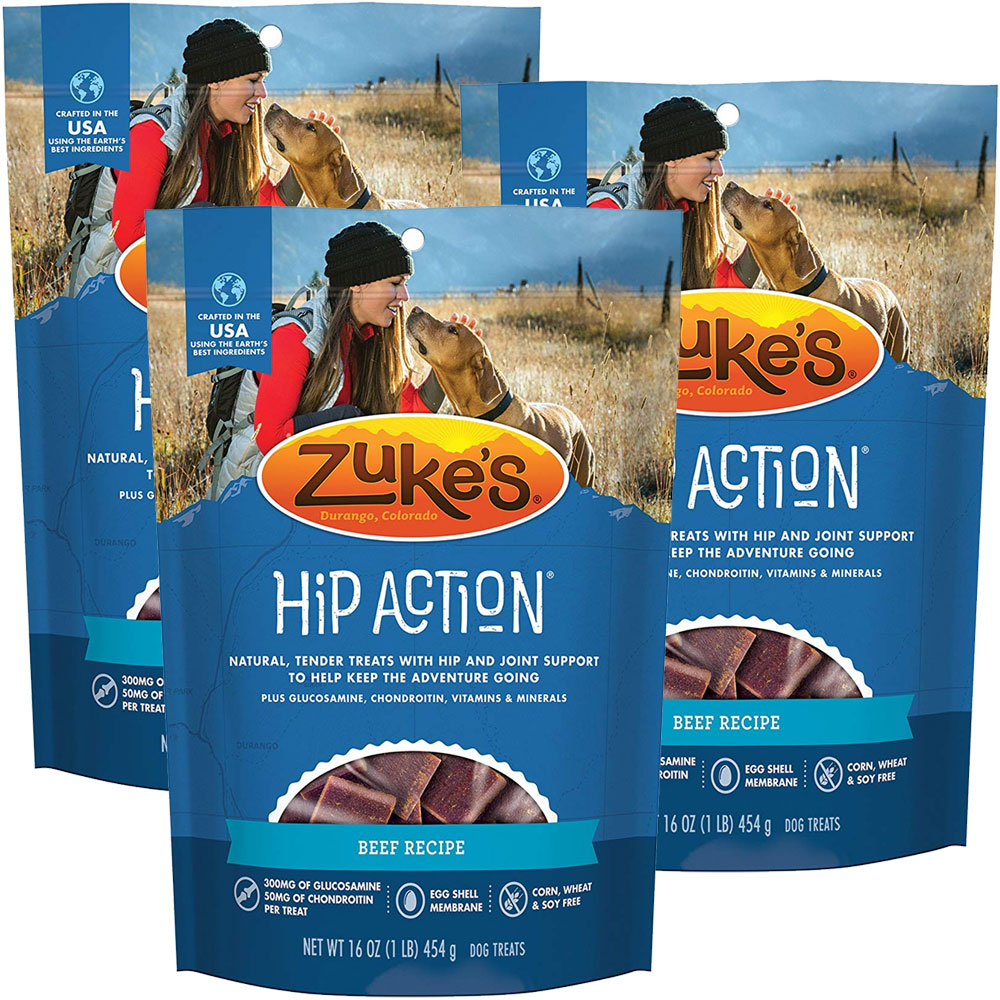 Zuke's Hip Action with Glucosamine and Chondroitin 3 Packs - BEEF (3 lb) im test