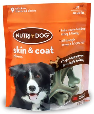 3M Nutri-Dog Skin And Coat Chews Medium - 9 ct - from EntirelyPets