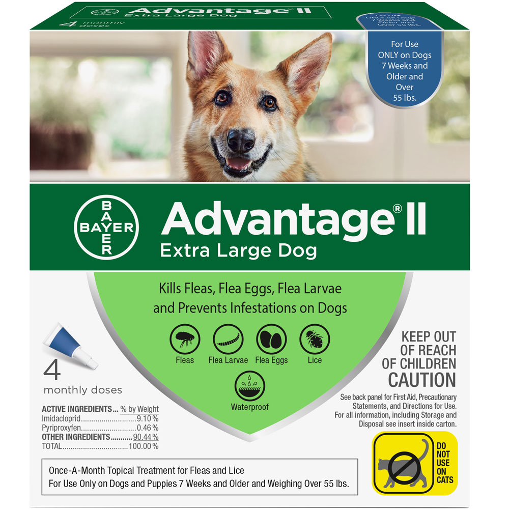 4 MONTH Advantage II Flea Control for Extra Large Dogs (Over 55 lbs) im test