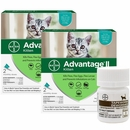 4 MONTH Advantage II Flea Control for Kittens (2-5 lbs) + Tapeworm Dewormer for Cats (3 Tablets)