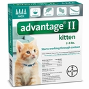4 MONTH Advantage II Flea Control for Kitten (under 5 lbs)