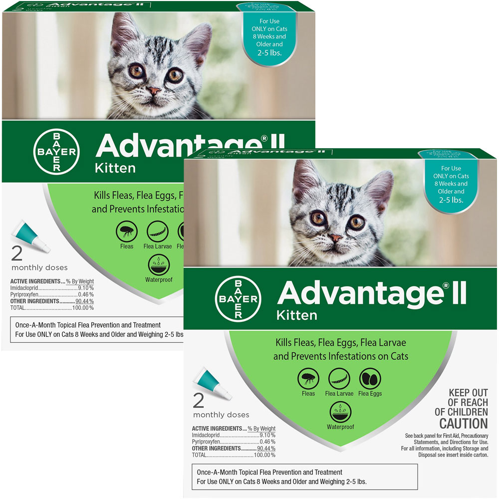 Advantage II Flea Control for Kittens 2-5 lbs, 4 Month im test