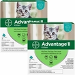 4 MONTH Advantage II Flea Control for Kittens (2-5 lbs)