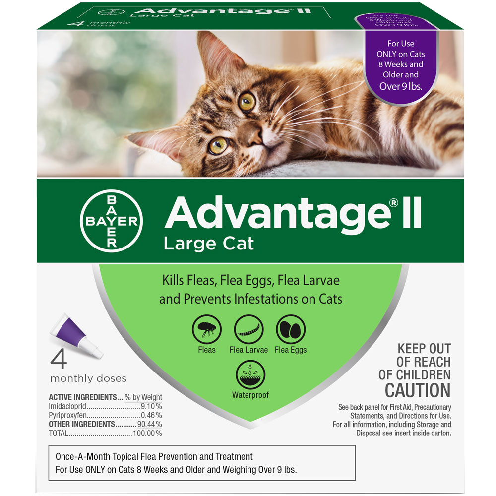 Advantage II Flea Control for Large Cats Over 9 lbs, 4 Month im test