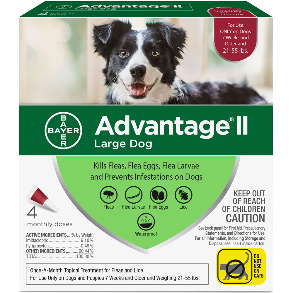 4 MONTH Advantage II Flea Control for Large Dogs (21-55 lbs) im test