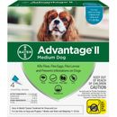 4 MONTH Advantage II Flea Control for Medium Dogs (11-20 lbs)