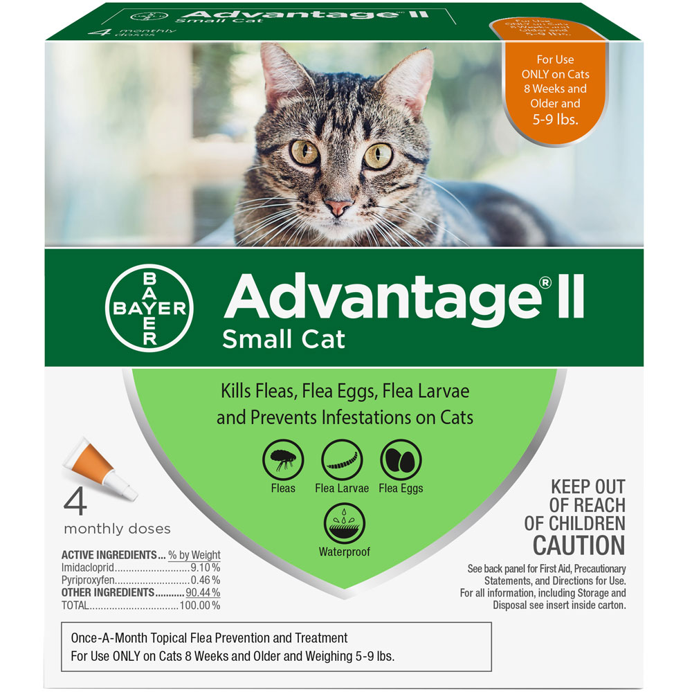 Advantage II Flea Control for Small Cats 5-9 lbs, 4 Month im test