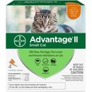 4 MONTH Advantage II Flea Control for Small Cats (5-9 lbs)