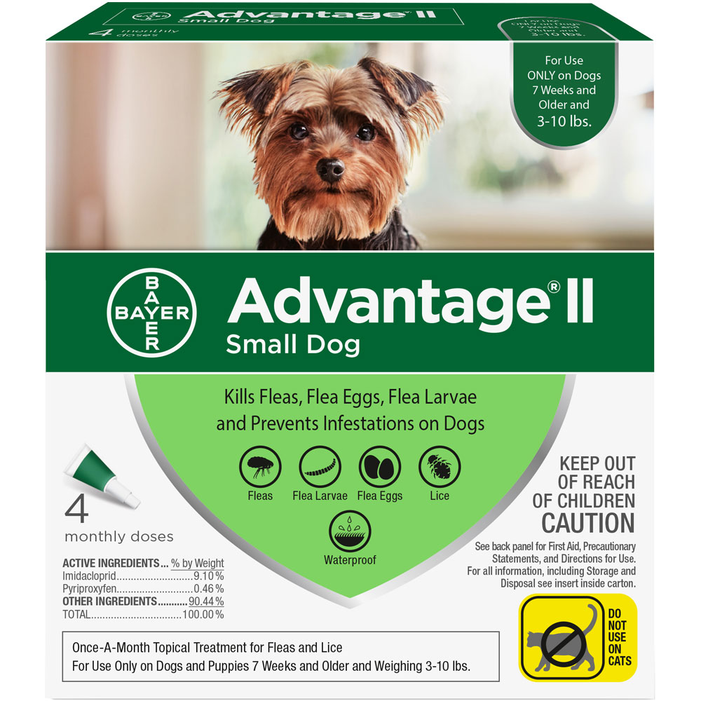 4 MONTH Advantage II Flea Control for Small Dogs (under 10 lbs) im test