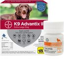 4 MONTH K9 Advantix II BLUE for Extra Large Dogs (over 55 lbs) + Tapeworm Dewormer for Dogs (5 Tablets)