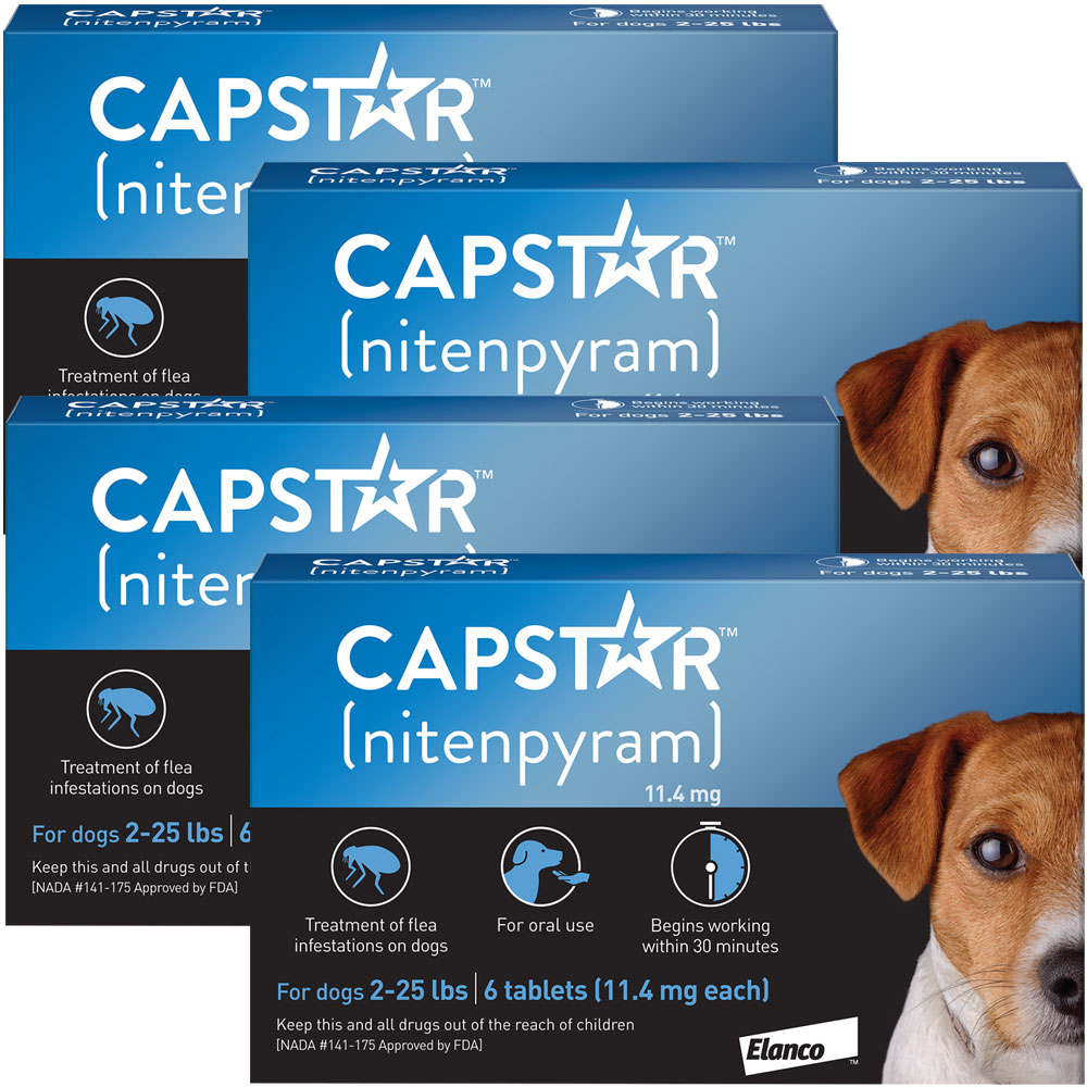 Capstar Flea Control for Dogs 2-25 lbs (24 Tablets)