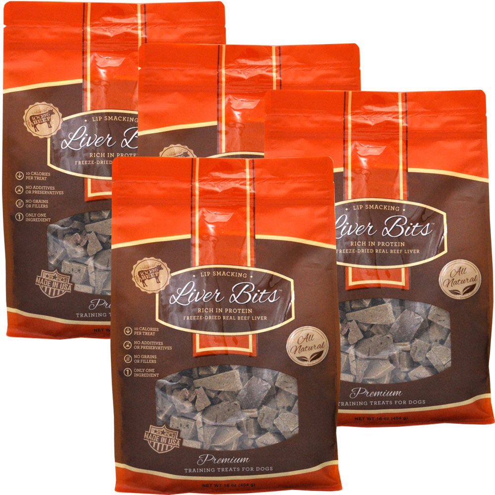 Liver Bits Treats for Dogs Economy Size 4-PACK (4 lbs) im test