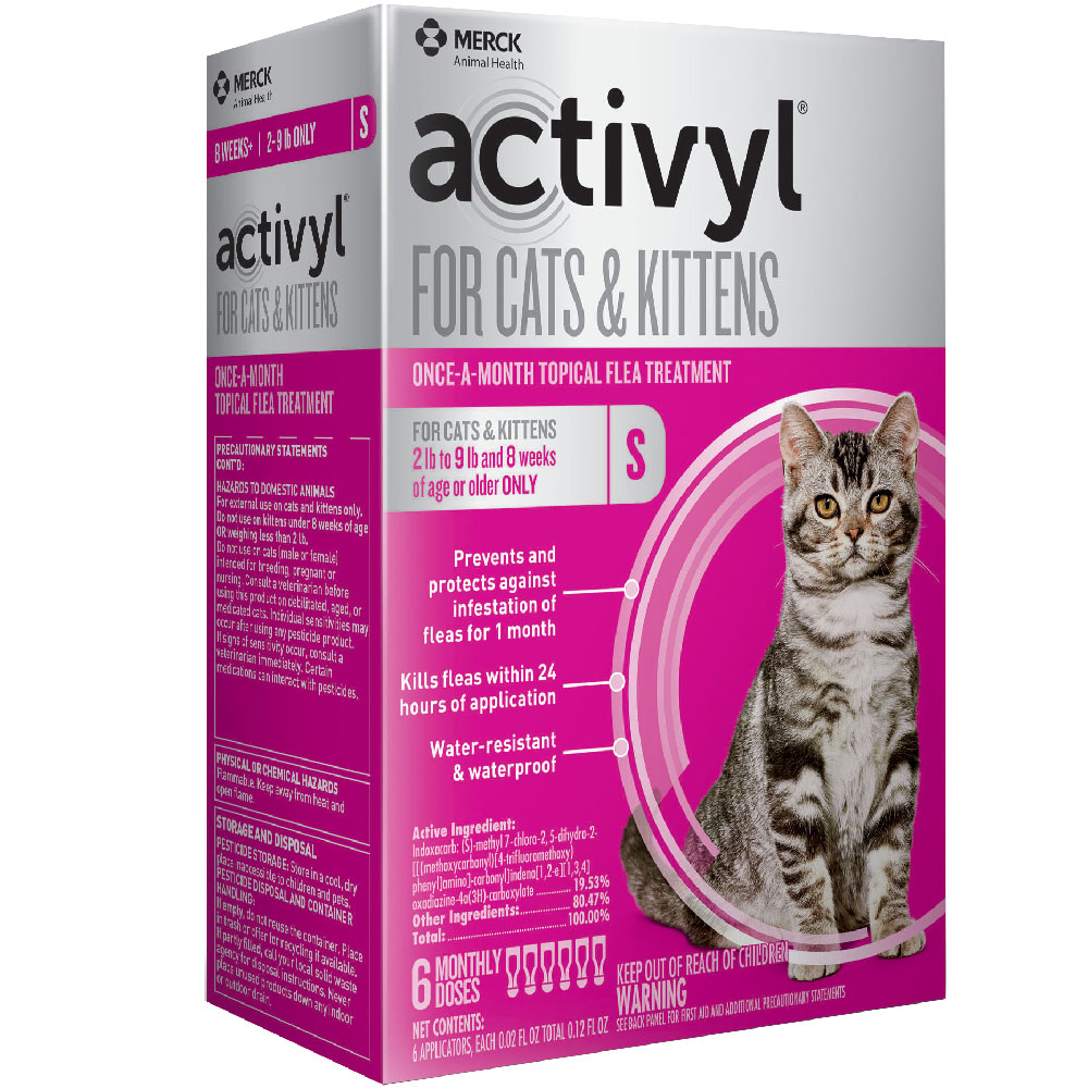 6 MONTH Activyl Spot-On for Cats & Kittens (2-9 lbs) im test