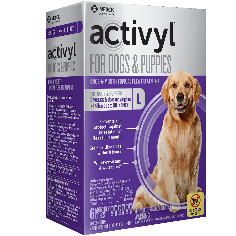6 MONTH Activyl Spot-On for Large Dogs & Puppies (44-88 lbs) im test