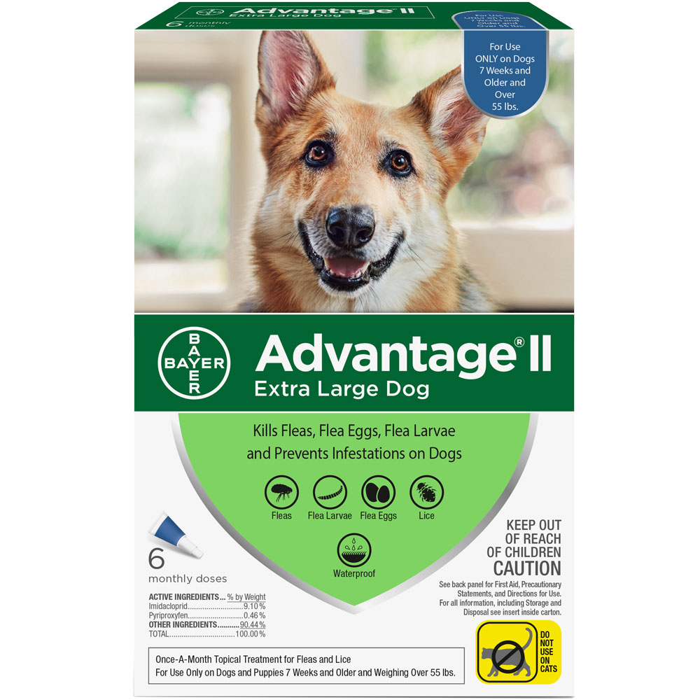 6 MONTH Advantage II Flea Control for Extra Large Dogs (Over 55 lbs) im test