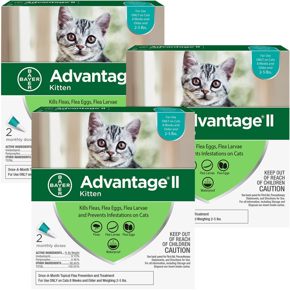Advantage II Flea Control for Kittens 2-5 lbs, 6 Month im test
