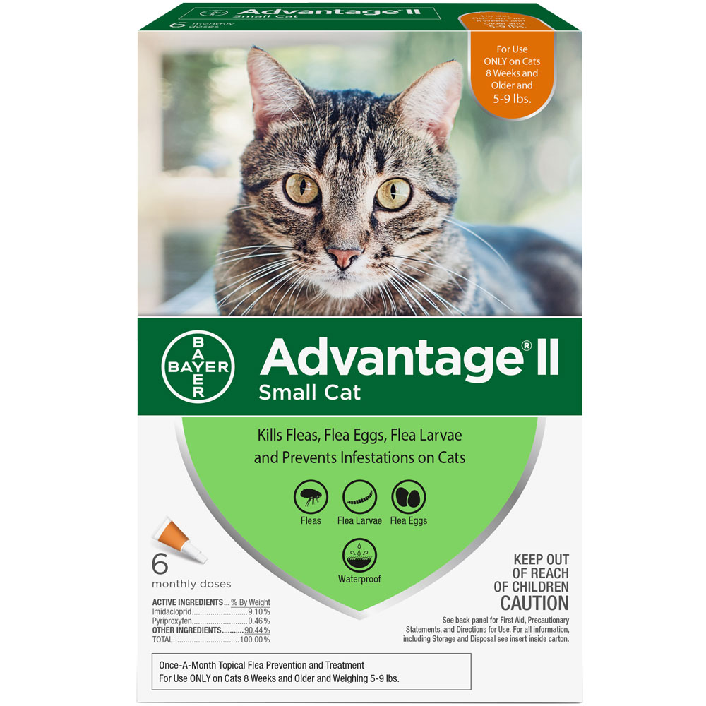 Advantage II Flea Control for Small Cats 5-9 lbs, 6 Month im test