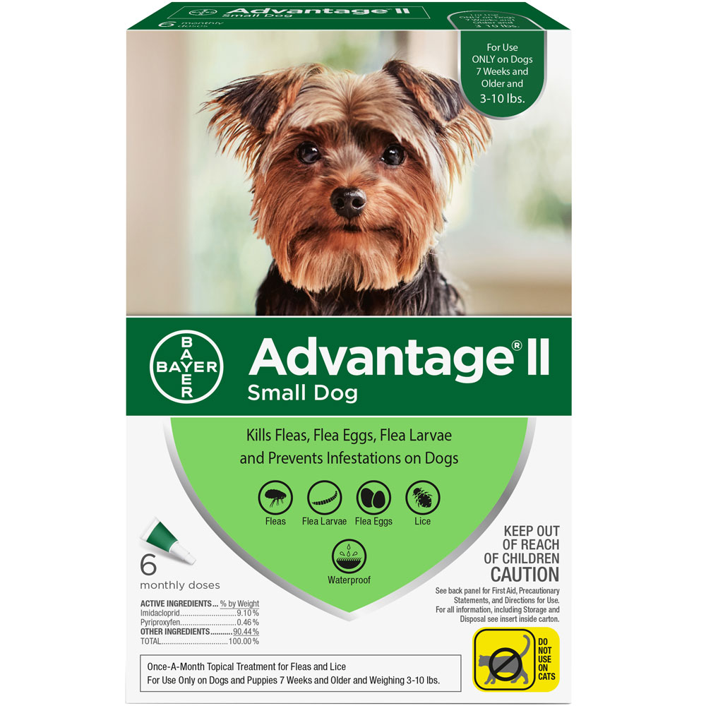 6 MONTH Advantage II Flea Control for Small Dogs (under 10 lbs) im test