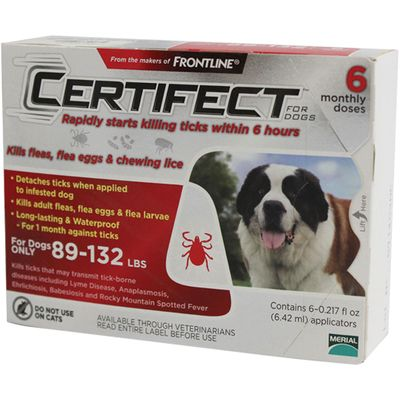 6 Month CERTIFECT RED for Dogs 89-132 lbs