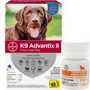 6 MONTH K9 Advantix II BLUE for Extra Large Dogs (over 55 lbs) + Tapeworm Dewormer for Dogs (5 Tablets)