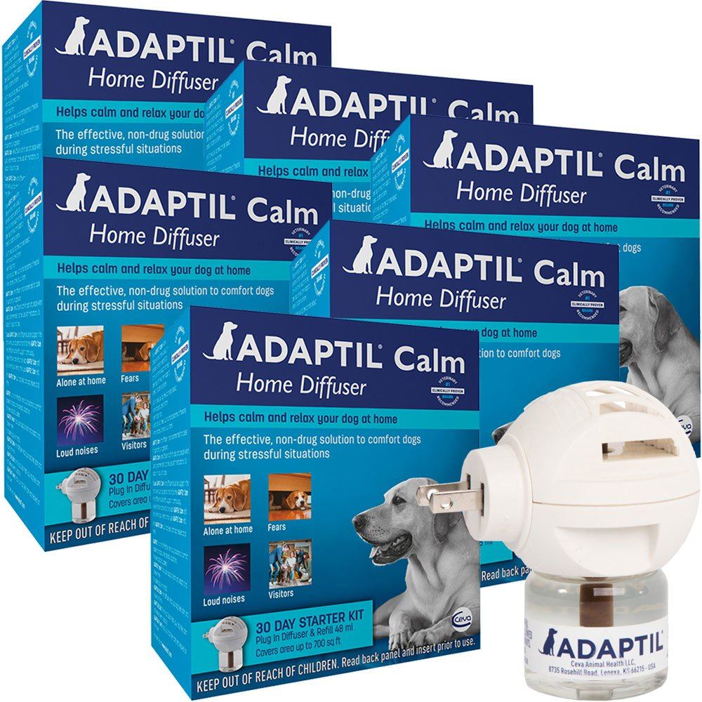 Image of 6 PACK ADAPTIL Calm Home Diffuser for Dogs (30 Day Starter Kit) 288 ml
