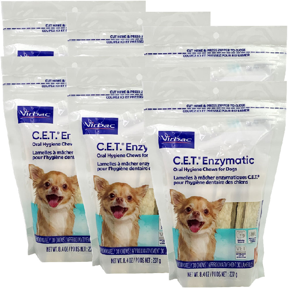 Image of 6-PACK CET Enzymatic Chews for Extra Small Dogs (180 Chews)