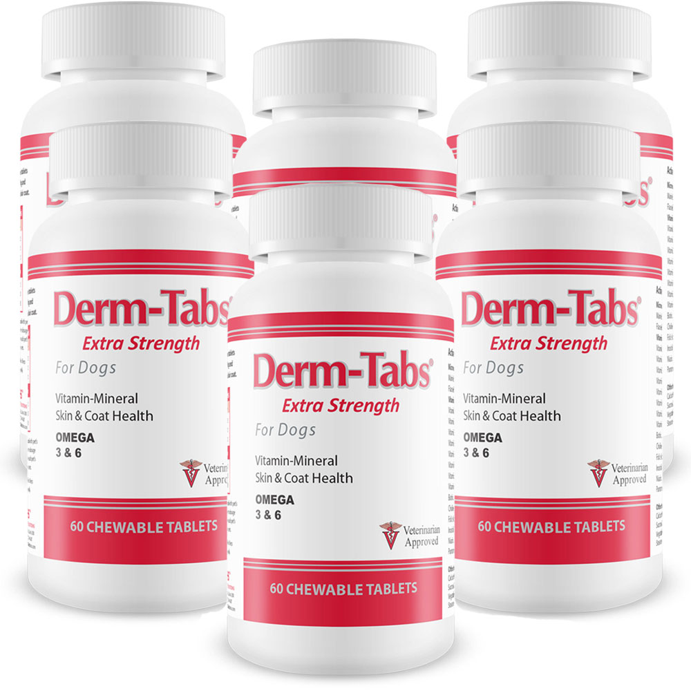 Image of 6-PACK Derm-Tabs Extra Strength for Dogs (360 Chewable Tablets)