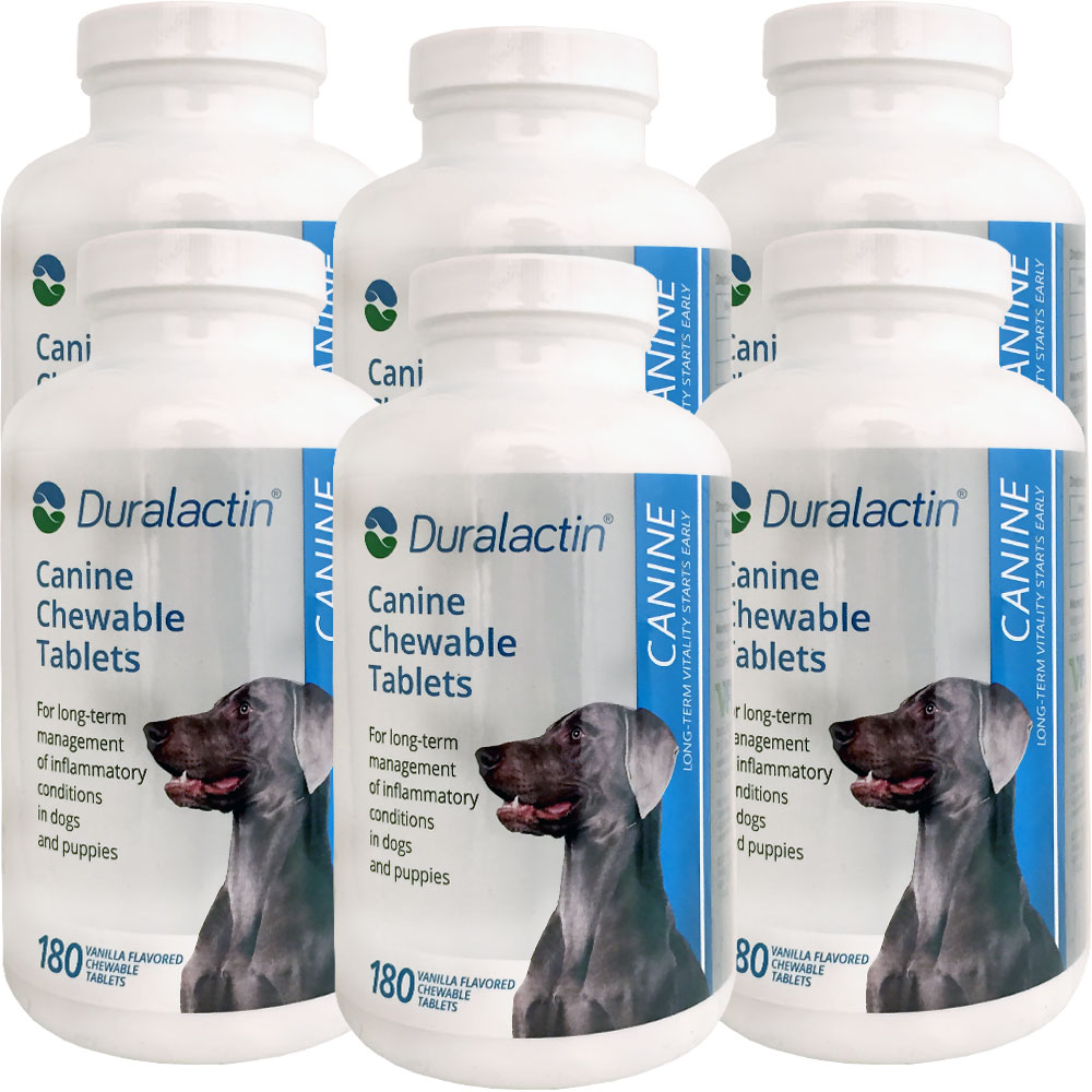 6-PACK Duralactin Canine 1000 mg (1080 tablets) im test